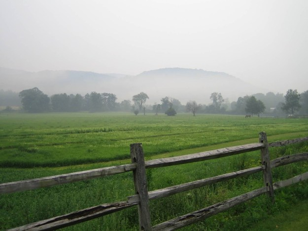 Early morning mist in the Tyringham Valley, MA