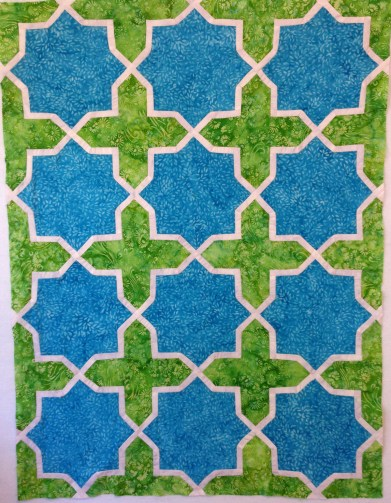 Completed top for Arabesque #4 quilt
