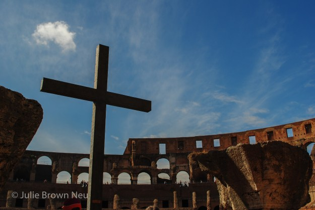 cross at the Colosseum, Rome 2010