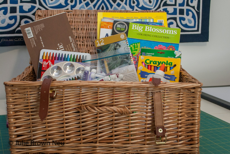 Creative Play Newsletter image, basket of art supplies