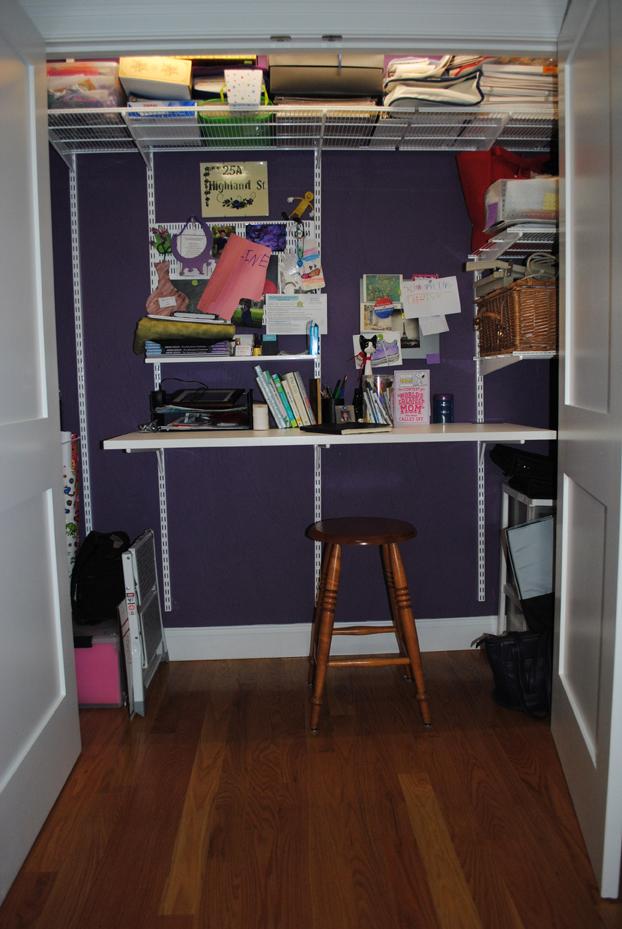 Julie Neu, art closet, purple wall