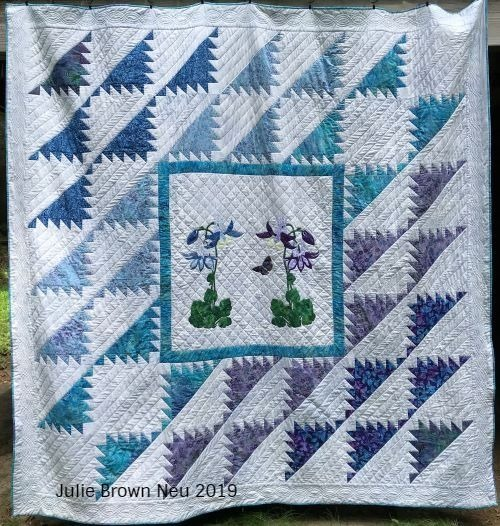 blue and purple delectable mountains quilt