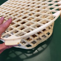 center lattice over pie, gently lift plastic off
