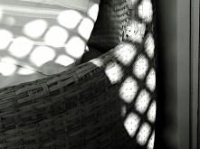 3 - Shadows on wicker furniture in B&W