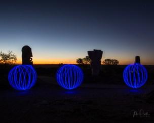 Light Painting over the Living Desert, broken Hill NSW