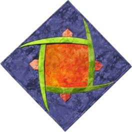 Folded Flower Fiber Art by Julie R. Filatoff