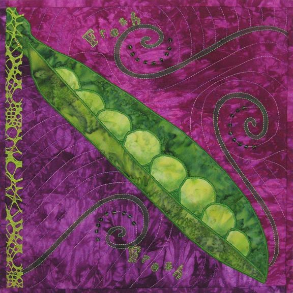 Green is the Color of Fresh Fiber Art by Julie R. Filatoff