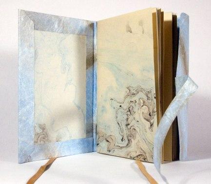 Nag Hammadi Artist's Book by Julie R. Filatoff: Suminigashi pages.