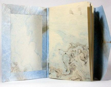 Nag Hammadi Artist's Book by Julie R. Filatoff: Also suminigashi endpaper.