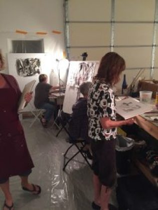 Julie Schumer painting workshop