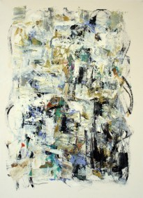Julie Schumer Winter Dusk on Old Road South<br>30 X 22, mixed media on paper