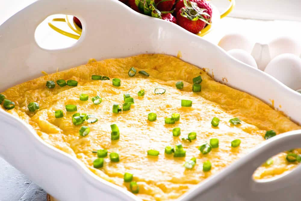 breakfast bake in casserole dish