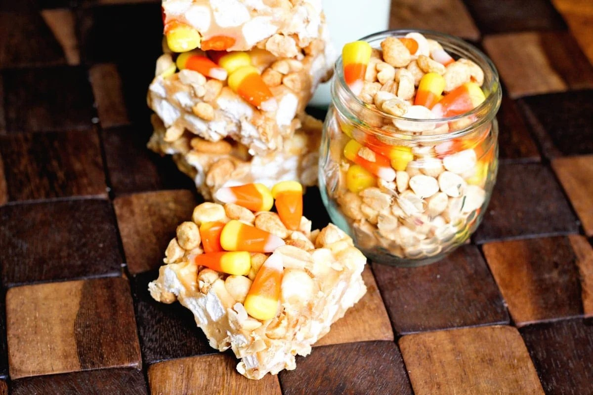 Candy Corn and Peanuts combined into the perfect sweet and salty bar!