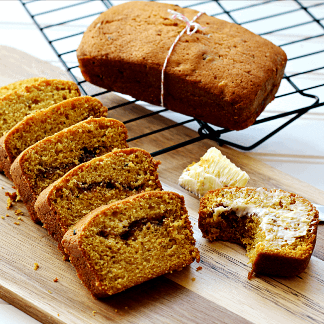 Cinnamon Pumpkin Zucchini Bread