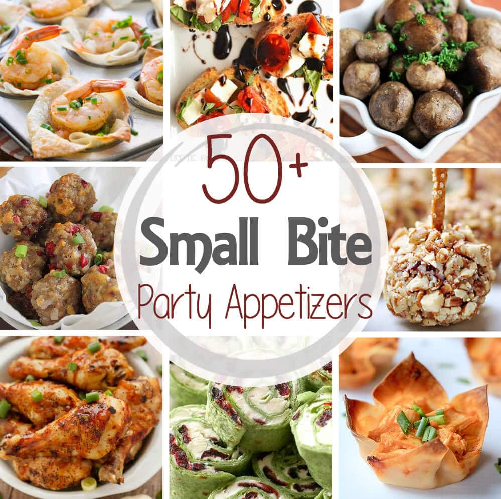 50+ Small Bite Party Appetizers