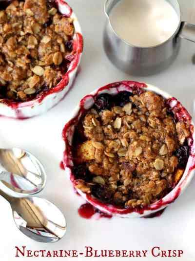 Nectarine Blueberry Crisp Recipe #breakfast #dessert