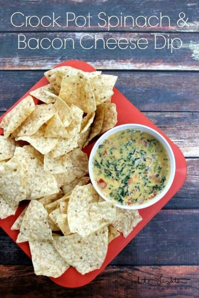 Spinach and Bacon Cheese Dip