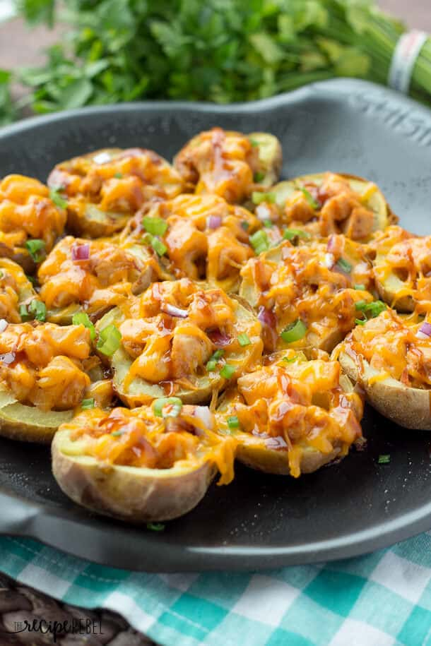 Nested Pulled Pork Barbecue Potato Skins ...