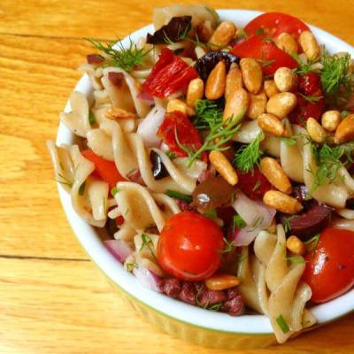 Pasta-Salad-with-Tomatoes-Olives-and-Toasted-Pine-Nuts-The-Lemon-Bowl
