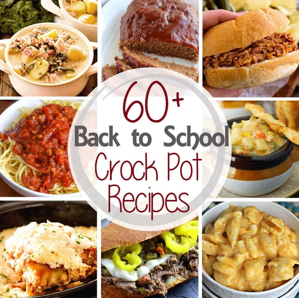 60 back to school dinner crock pot recipes julies eats treats 60 dinner crock pot recipes tons of easy recipes perfect for any busy family forumfinder Images