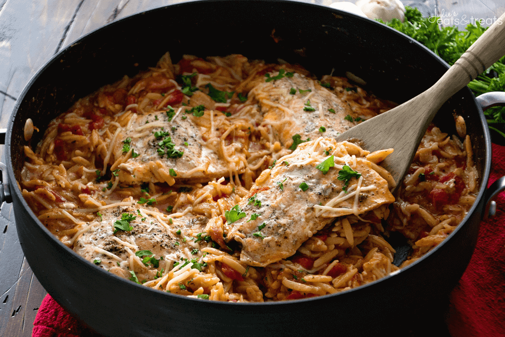 Light italian one pot salmon orzo recipe julies eats treats light italian one pot salmon orzo recipe quick easy one pot pasta dish forumfinder Gallery