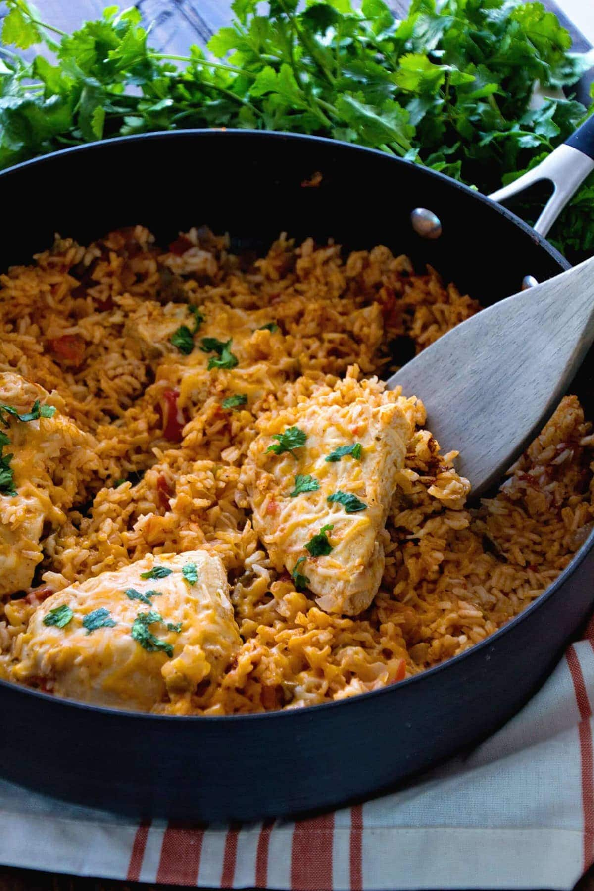 One Pot Fiesta Chicken Rice Recipe Quick Easy Dinner With A
