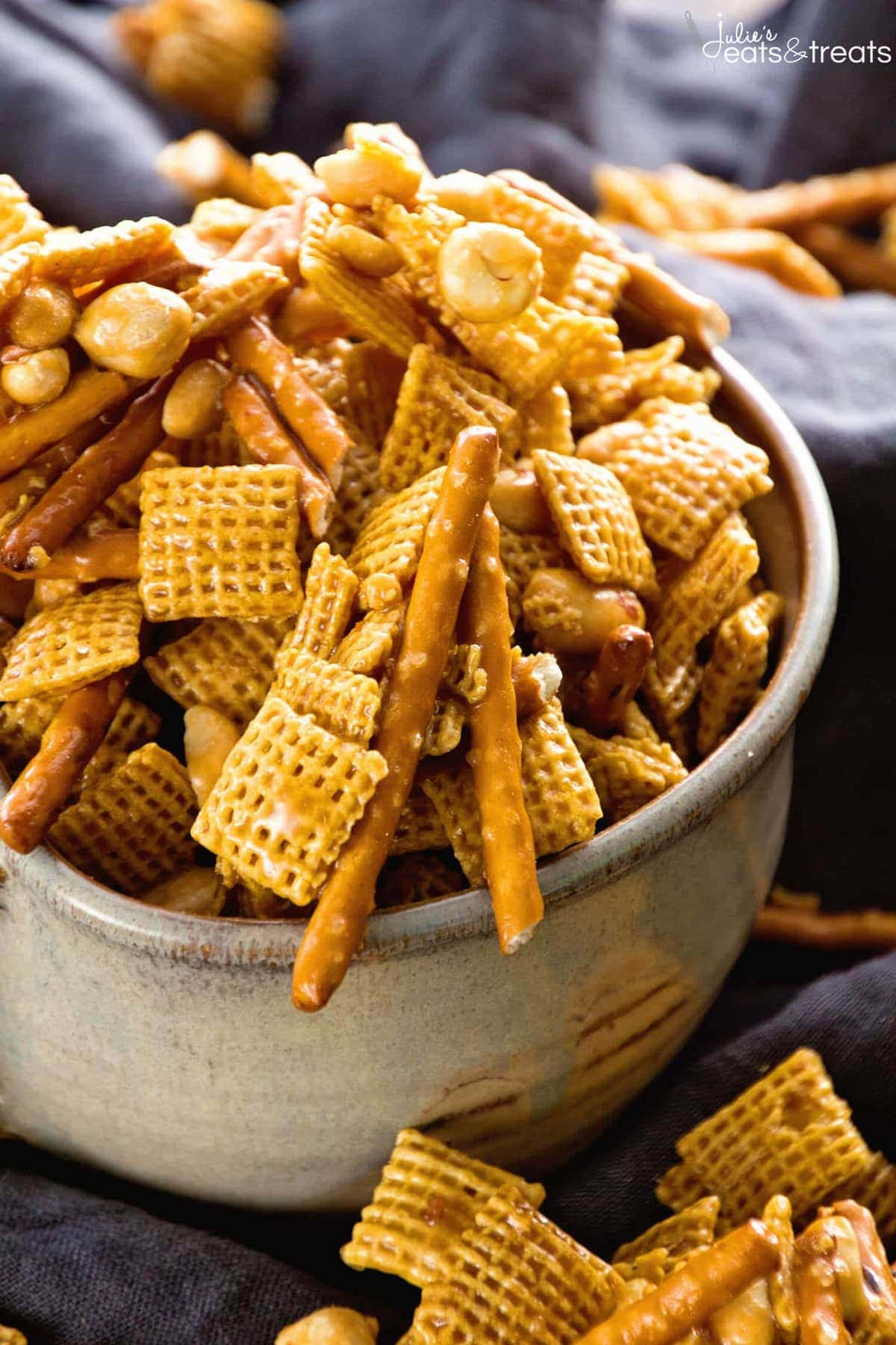 caramel chex mix the perfect blend of sweet salty in this snack mix - Christmas Crack Recipe Chex