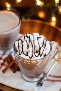 Spiked Vanilla Cinnamon Hot Chocolate