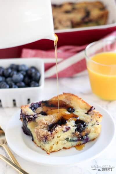 Blueberry Buttermilk Pancake Casserole from Celebrating Sweets