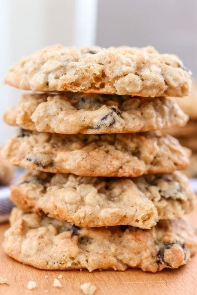 Oatmeal coconut and raisin cookies