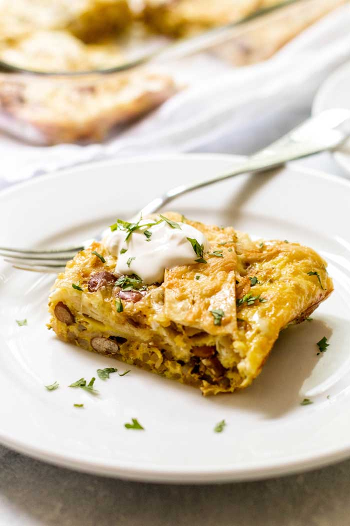The perfect Make Ahead Breakfast Casserole for feeding a crowd!