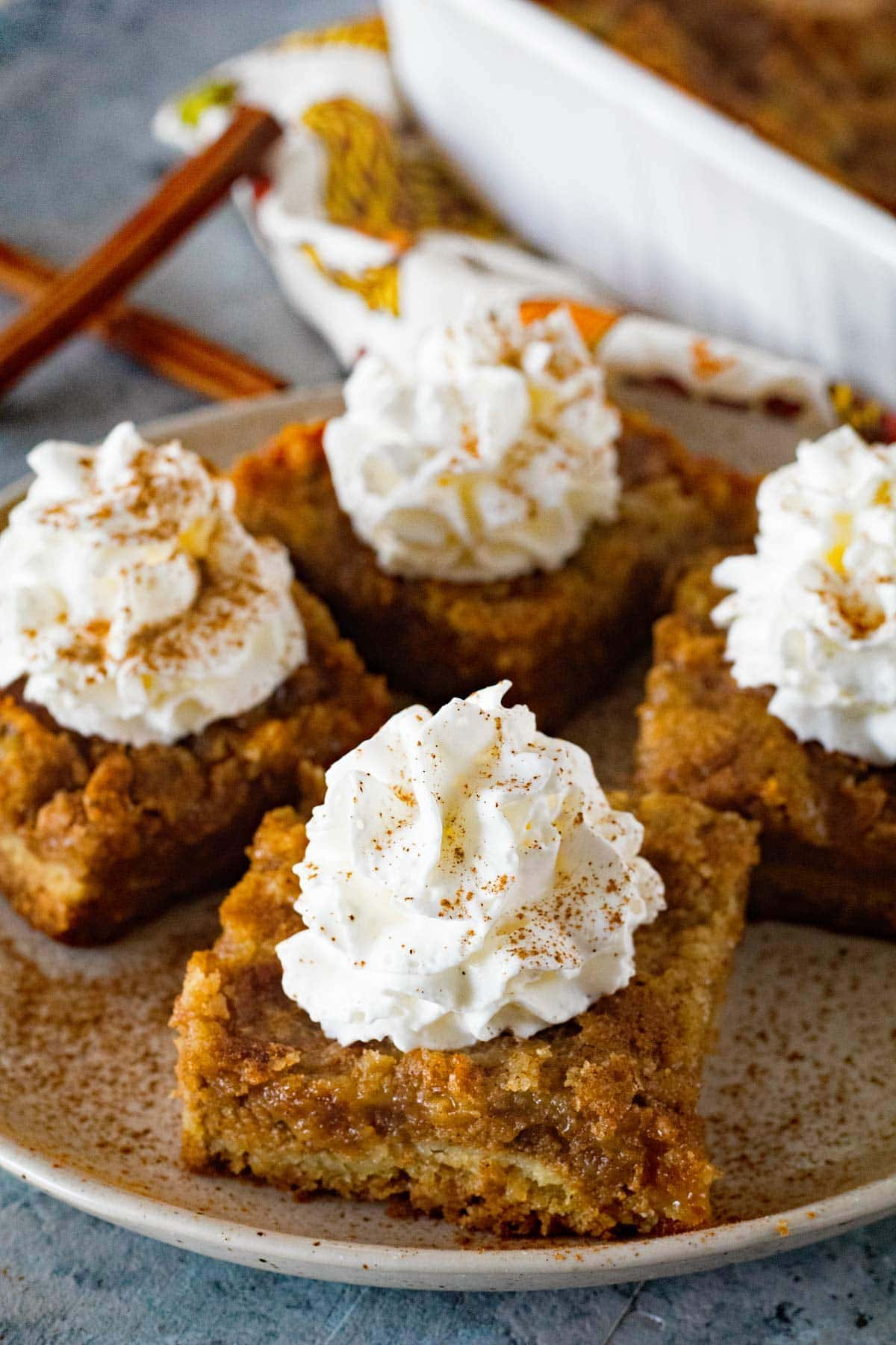 If you are looking for an easy pumpkin bar recipe this is it!
