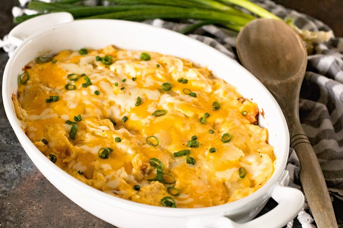 Fresh Cut Potatoes Smothered in a Cheese for the Perfect Scalloped Potatoes!