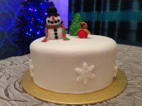 Frosty the Snowman and Red Robin Christmas Cake