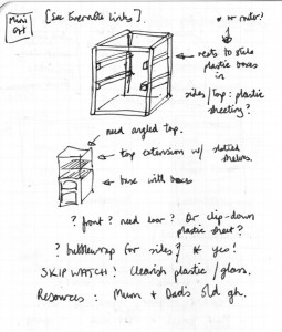 Sketch from my notebook when I planned to build something from scratch
