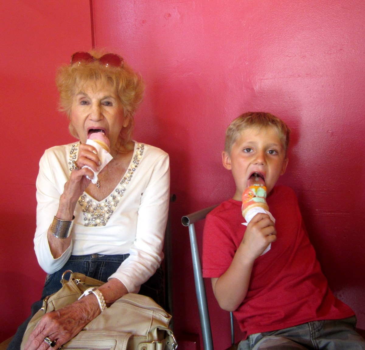 Grandma Marge & Hayden - Ice Cream