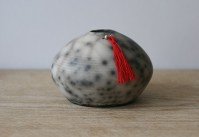 Naked raku fired urchin
