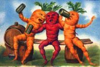 Michael Sowa postcard-art-drinking-vegetables