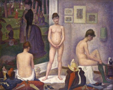 Les-Poseuses-1887-88-by-Georges-Seurat