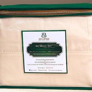 Sleep EZ 100% Natural Sateen Cotton Sheets