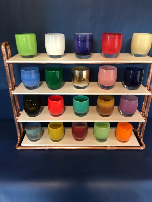 glassybaby shelf