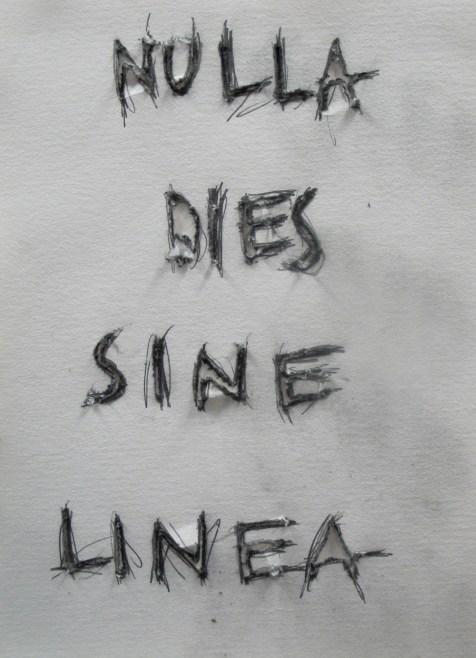 nulla dies sine linea