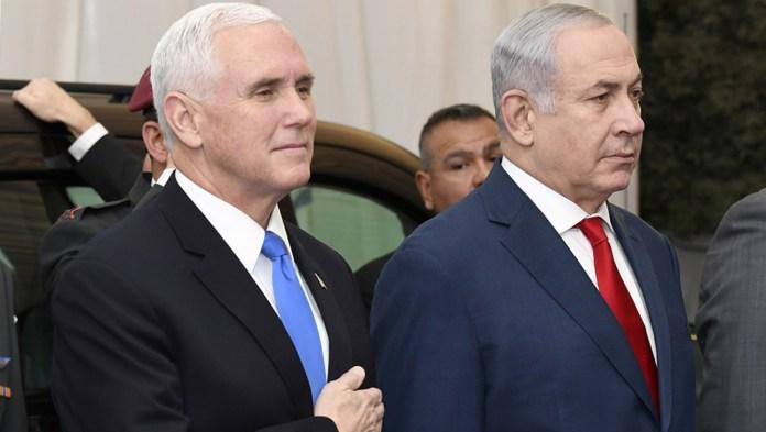 Mike Pence y Benjamin Netanyahu.