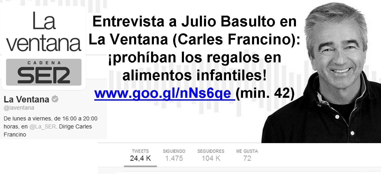 Entrevista En La Ventana Carles Francino Prohiban Los Regalos En