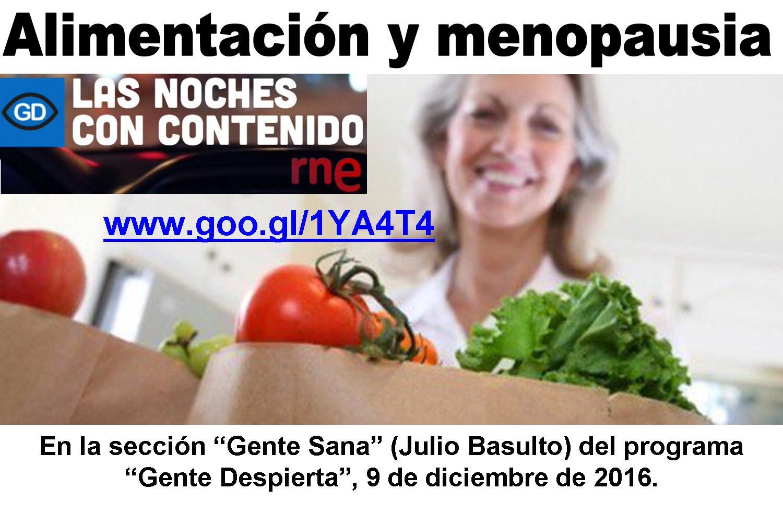 dieta sana en la menopausia