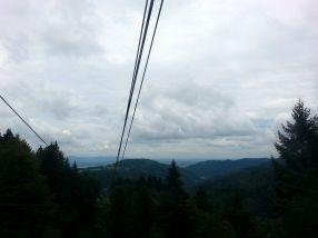 Ausblick aus der Seilbahn.