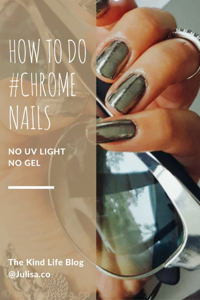 Chrome Nails Mirror Powder Tutorial | Julisa.co