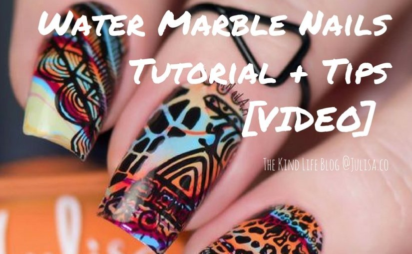 Watermarble Nails Tutorial [VIDEO] | Julisa Vegan Nail Polish