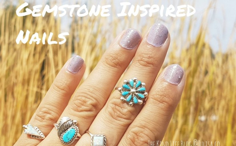 Gemstone Inspired Nails