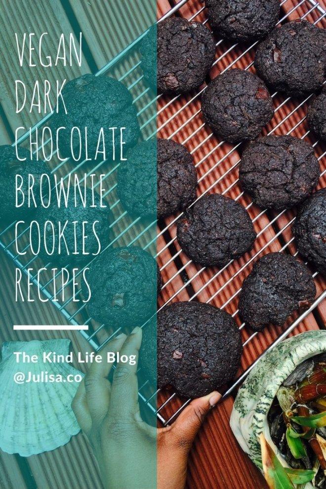 Vegan Eats: Vegan Dark Chocolate Brownie Cookies | Julisa.co